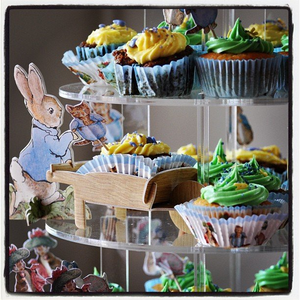 Peter Rabbit Cupcake Tower