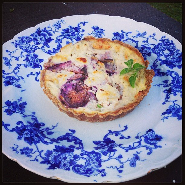Goat Cheese & Fig Quiche